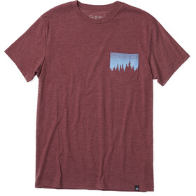 tentree Juniper Pocket T-shirt Heren, red mahogany